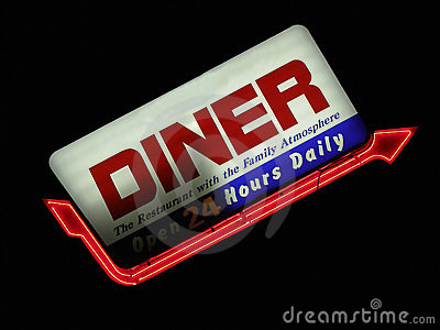Signe de wagon-restaurant