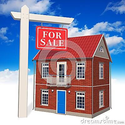 Signe «en vente» devant la nouvelle maison