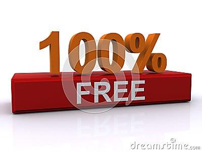 Signe libre de 100