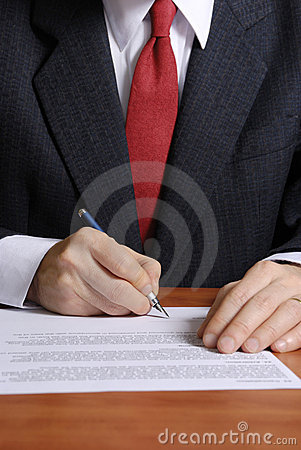 Free Signing A Contract Stock Images - 4354324
