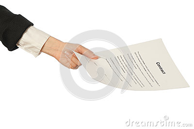 Signing of a contract