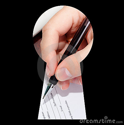 Signing a document view through the keyhole