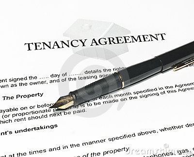 Signing a New Tenancy Agreement