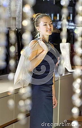 Signora nel boutique