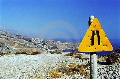 Signpost in Crete