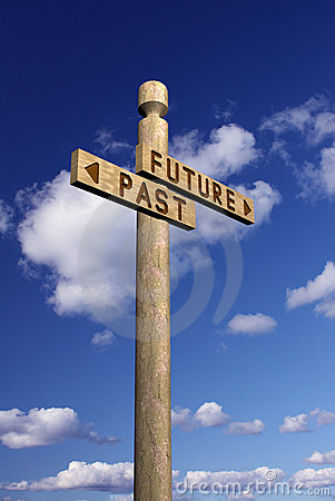 Signpost for future and past
