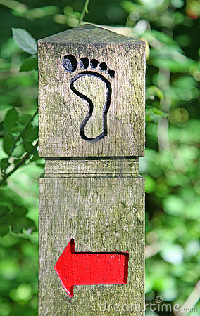 Signpost showing direction