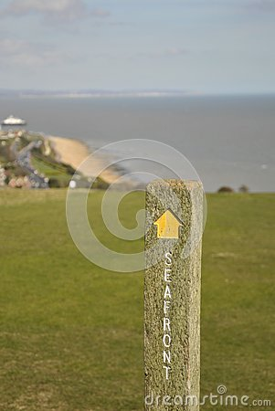 Signpost on South Downs Way
