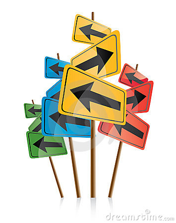 Free Signposts With Colored Arrows Stock Photo - 10408820