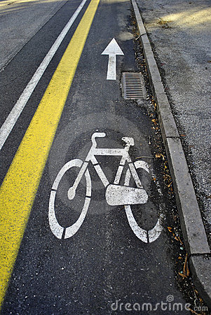 Signs for bicycle