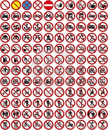 Free Signs Collection 3 - No Sign (+ Vector) Royalty Free Stock Photography - 10080827