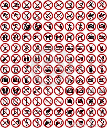 Free Signs Collection 4 - No Sign (+ Vector) Stock Photo - 10081770
