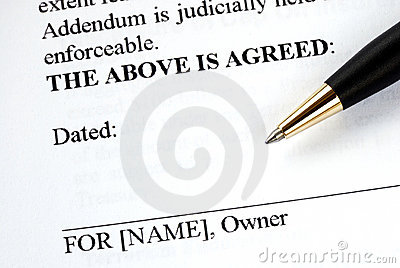 Signs the legal document