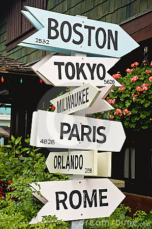 Signs Pointing to Cities