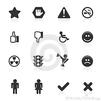 Signs & Symbols Icons - minimo series