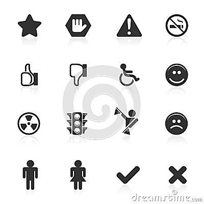 Signs & Symbols Icons - minimo series
