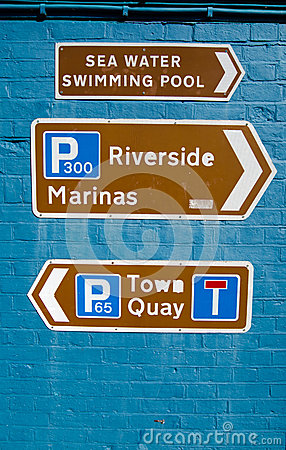 Signs for Tourists, Lymington, New Forest