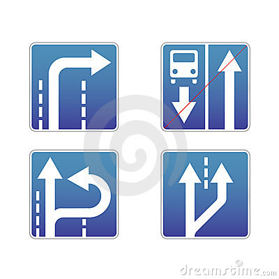 Signs traffic