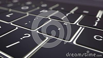 Siguiendo el tiro del teclado de ordenador negro moderno y luminoso cree la llave Clip conceptual 4K libre illustration