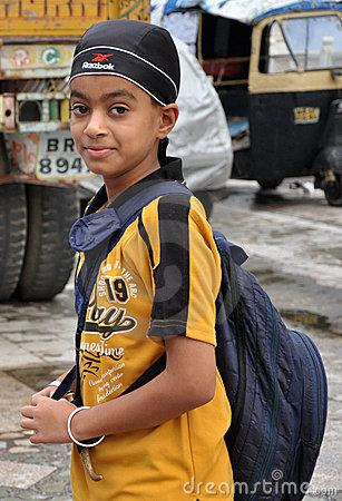 Sikh boy Editorial Stock Photo