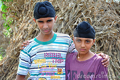 Sikh boys Editorial Stock Photo