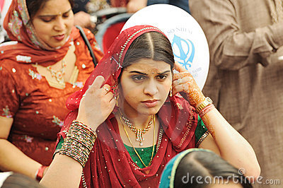 Sikh devotees take part to Baisakhi procession Editorial Stock Photo