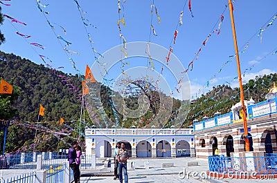 The Sikh Gurdwara (Temple) in Rewalsar Editorial Photo