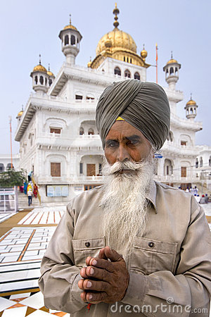 Sikh man at the Akal Takht - Amritsar - India Editorial Photo