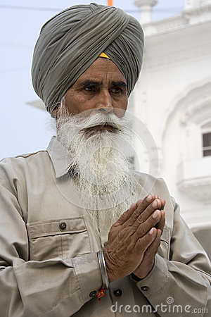 Sikh man at the Akal Takht - Amritsar - India Editorial Image