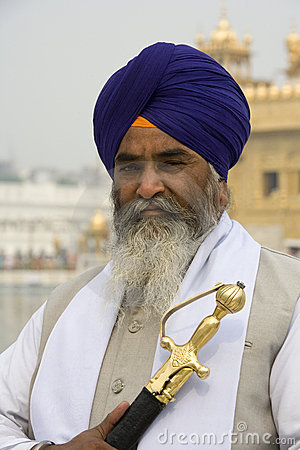 Sikh man - Golden Temple - Amritsar - India Editorial Photography