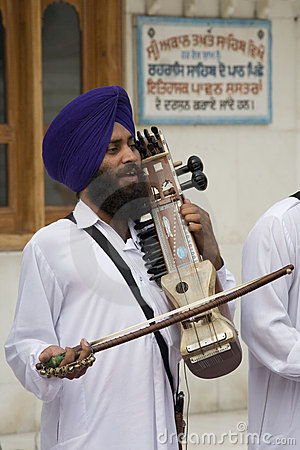 Sikh Musician - Amritsar - India Editorial Photo