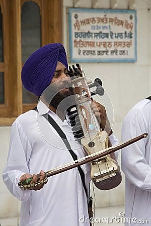Sikh Musician - Amritsar - India Editorial Photo