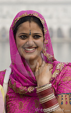 Sikh woman in Amritsar - India Editorial Photography