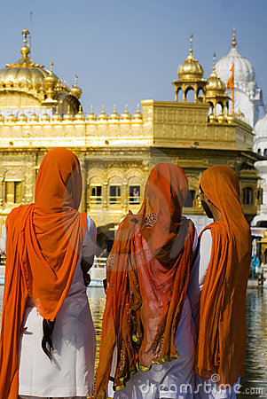 Sikh Women at Golden Temple, India Editorial Image
