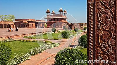 мир места sikri наследия fatehpur