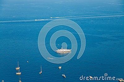 Sikt för ionian hav
