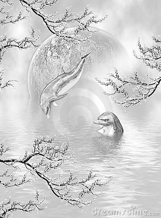 Silberne Delphin-Träume