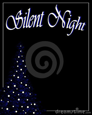 Silent night christmas background