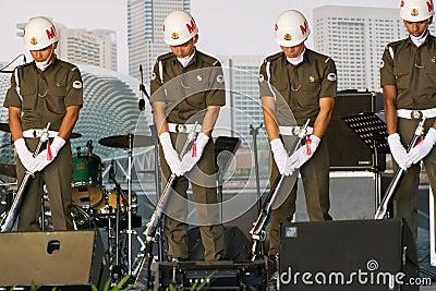 Silent Precision Drill by MP Command Editorial Photo