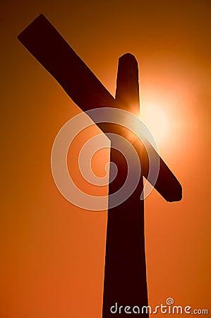 Silhouet van het kruis