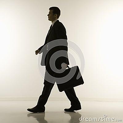 Silhouet van zakenman