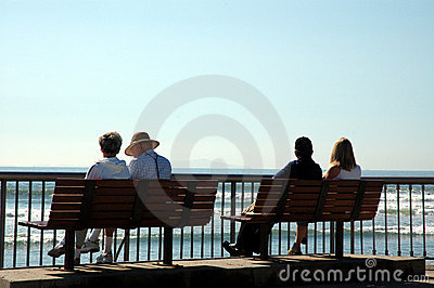 Silhouette of 4 people