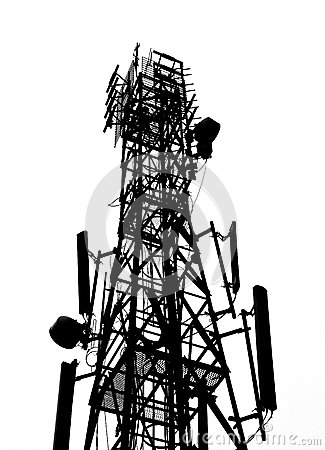 Silhouette of antenna Tower