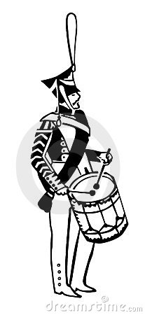 Silhouette of the army drummer