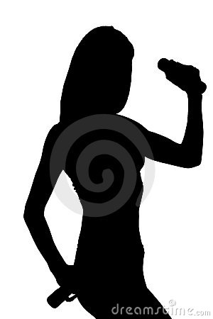 Silhouette of an attractive woman