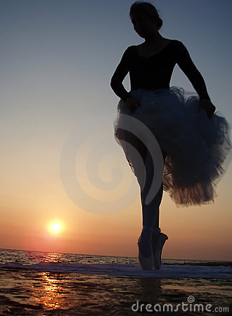 Silhouette of a ballet girl
