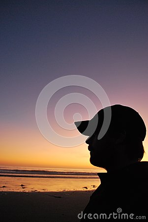 Silhouette at the Beach