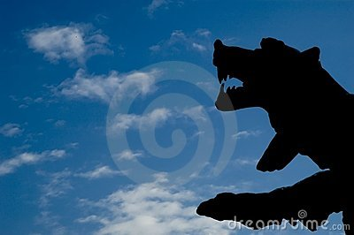 Silhouette of a bear