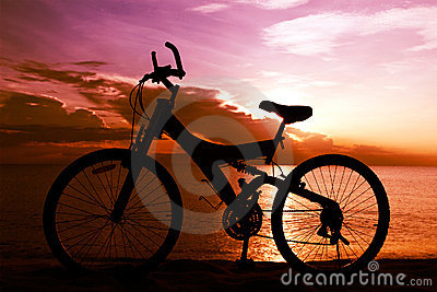 Silhouette of a Bike