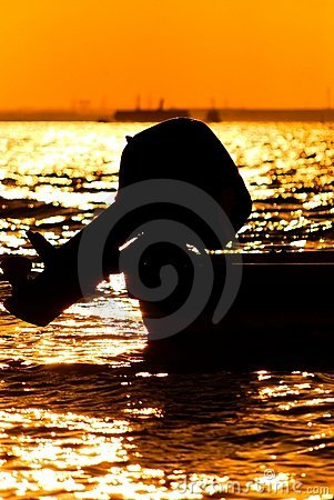 Silhouette of boat